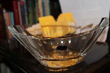 "Czech Glassworks Vintage  Crysta Bowl 9 1/2"" x 7""  4"" High Made in Bohemia, Czec"