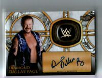 WWE Diamond Dallas Page 2018 Topps Legends Autograph Relic Card SN 49 of 99