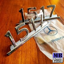 NOS Mercedes Benz truck 1517 pair of emblem chromed badge designation Genuine OE