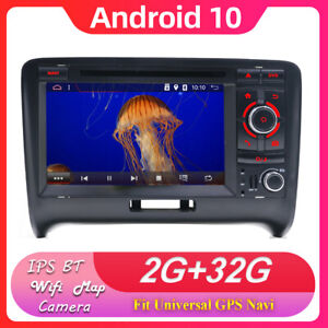 2 Din Android 10 Autoradio GPS Navi For Audi TT MK2 8J Radio Player Wifi BT DVD