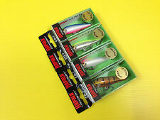 Lot A of Four Rapala Countdown CD-7 in 4 Japan Special Colors Lures, NIB.