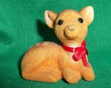 Hallmark Merry Miniature 1983 Flocked Deer/ Fawn Christmas