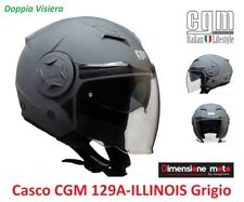 Casco JET Doppia Visiera CGM 129A ILLINOIS Grigio Opaco Taglia M 57/58 cm
