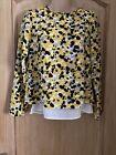 H&M Yellow & Black Ladies Top FromSize 4
