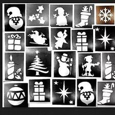 50 x Christmas stencils assorted-3 part midi 4-7cms glitter tattoos facepainting