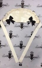 Westward Bound Latex Rubber MAIDS CAP *White/Black Trim* Accessories