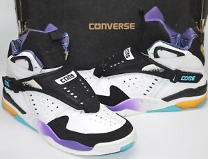 VNDS Converse Aero Jam White/Black/Purple Grandmama Hornets Larry Johnson  10.5