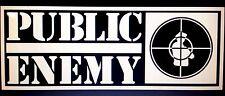 "Public Enemy Vinyl Decal Sticker (Fight The power) 8.5"" X 3.2"""