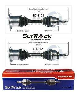 For Ford F-150 Lincoln Navigator Mark LT 4WD 2 Front CV Axle Shafts SurTrack Set