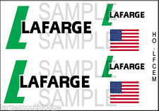HO SCALE CUSTOM TRUCK CONTAINER LAFARGE CEMENT DECAL SET HOLFCEM