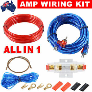 1200W Car AMP Wiring Kit Amplifier Cable Wire Kit Audio Sub Speaker RCA AGU FUSE