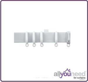 White PVC Streamline Curtain Track - Suitable for Straight & Bay Windows