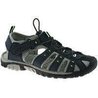 MENS PDQ CLOSED TOE SPORTS SANDALS SIZE UK 7 - 12 WALKING TRAIL NAVY M040C KD