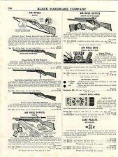1953 AD Daisy Benjamin Super Air Rifles BB Gun Jumbo BB Cork Ball Red Ryder