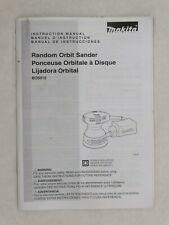 Makita # BO 5010 Random Orbit Sander Instruction Manual Only