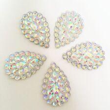 6pcs AB Resin Drop Flatback Rhinestone Wedding decoration 2 Hole Buttons D234