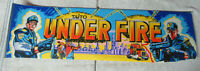 "DAMAGED  original UNDER FIRE TAITO  27 1/2  - 7 3/4"" sign marquee cF89"