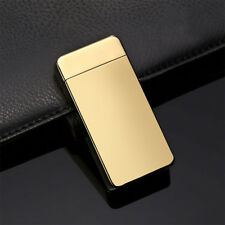 Dual Electric USB Lighter Rechargeable Windproof Flameless Cigar Lighter FD