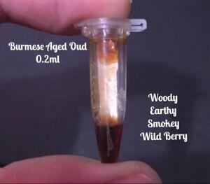 Pure Aged Agarwood BURMESE Oud/ Oudh Perfume/oil 0.2ml