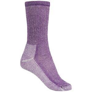 SmartWool Women's Medium Cushion Hiking Crew Socks Mountain Purple Heather Large