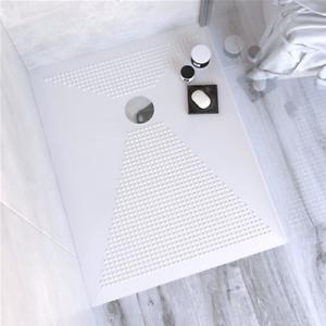 Piatto doccia in ceramica bianco lucido h 3 cm ultraslim