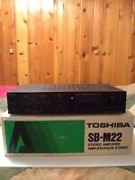 Vintage Toshiba SB-M22 Stereo Amplifier with Box and Manual Made In Japan