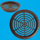 100x Brown Vivarium Reptile Push Fit Round 65mm Air Vents, 60mm Hole,Ventilation
