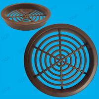 2x Brown Vivarium Reptile Push Fit Round 65mm Air Vents, 60mm Hole, Ventilation