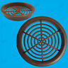 100x Brown Vivarium Reptile Push Fit Round 65mm Air Vents, 60mm Hole,Ventilation