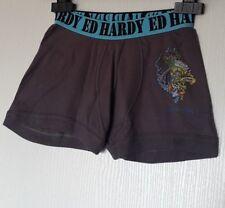 ED HARDY KIDS BOXER 100% COTON TAILLE 8 ANS (S ENFANT) COLORIS GRIS 408
