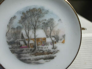 Miniatures Avon Dollhouse Small Treasures Lot 6 Bell Plate Cup Saucer Sugar