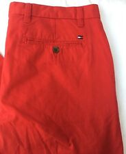 Tommy Hilfiger men's jeans trousers Hudson chino red  34Wx30L