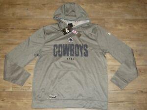 Dallas Cowboys Authentic Combine Team Therma Gray Hoodie Jacket Men's Size XL