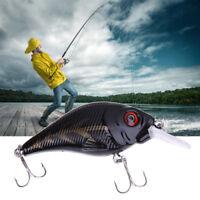 1Pc 80cm 11g 3D Fishing Lure Bass Minnow Crankbait 6# Triple Hook Fishing Tackle