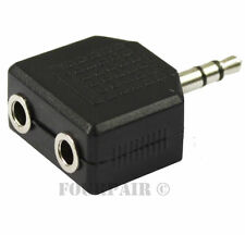 "5 Pack Lot - 3.5mm Stereo Y Splitter Audio Adapter - 1/8"" Male to (2) Female"