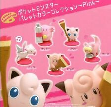 Kitan Club Pokemon Pink Painting Figure Gashapon x5 Mew Jigglypuff Chansey