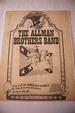 Allman Brothers Band Rare Vintage Concert Newspaper 1974 Print Roosevelt Stad.Nj