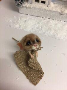 Needle felted , needle felt,mouse, dolls house,teddy, animal, ooak, hand made