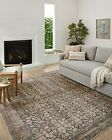 Amber Lewis x  Billie Collection BIL-01 Accent Rug 2'3' x 3'9' Ink / Salmon