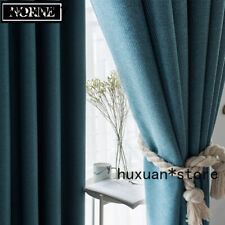 Modern Style Solid Color Cotton Thermal Insulated Curtain Blackout Curtain Drape