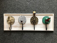 Children's Animal Wall Peg Coat Hanger Rack