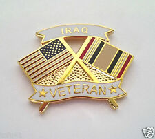 Iraq Veteran Crossed Flags Military Veteran Hat Pin 14633 Ho