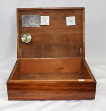 Vintage Walnut Cigar Humidor by Woodsmen - Beautiful Made in USA 11.5 by 9 inch