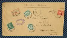 -= Lettre chargée d'ÉTAMPES (Seine-et-Oise) pour AVRANCHES (Manche) - 1927 =-