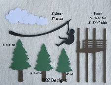 Die Cut ZIP LINE Ziplining Outdoors Vacation Handmade Scrapbook Paper Piecing