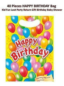40 Pieces HAPPY BIRTHDAY Bag Kid Fun Loot Party Return Gift Birthday Baby Shower