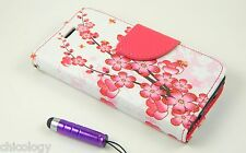 Magnetic Flip Leather Hard Skin Pouch Wallet Case Cover For iPhone 5 S 5C Floral