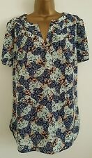 NEW PER UNA M&S 12-18 Butterfly Print Blue Green Tee Top Blouse