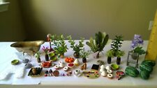 Lot of dollhouse miniatures some handcrafted