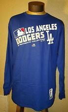 New MLB Authentic Collection Los Angeles Dodgers Long Sleeve Shirt Mens Large L